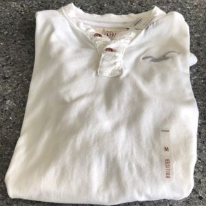 Hollister Men's Casual Long Sleeve Shirt White